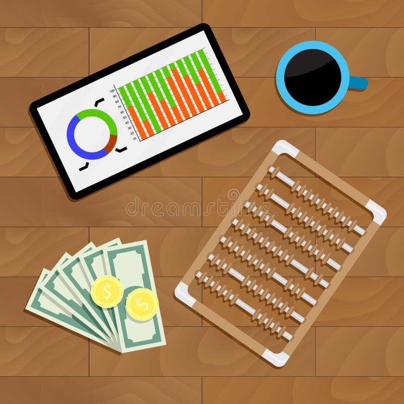 Οικονομική στατιστική έκθεση απεικόνιση αποθεμάτων