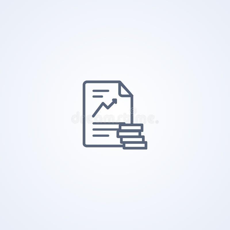 Οικονομική συμβολή, διανυσματικό καλύτερο γκρίζο εικονίδιο γραμμών ελεύθερη απεικόνιση δικαιώματος