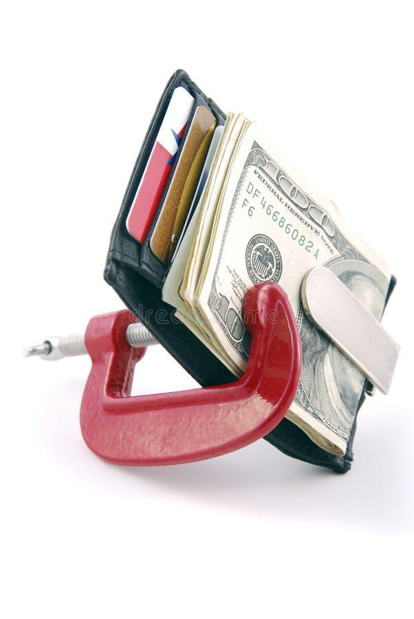 οικονομική συμπίεση στοκ φωτογραφία