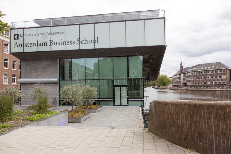 Οικονομική Σχολή του πανεπιστημίου του Άμστερνταμ στο roeterseiland στοκ φωτογραφίες