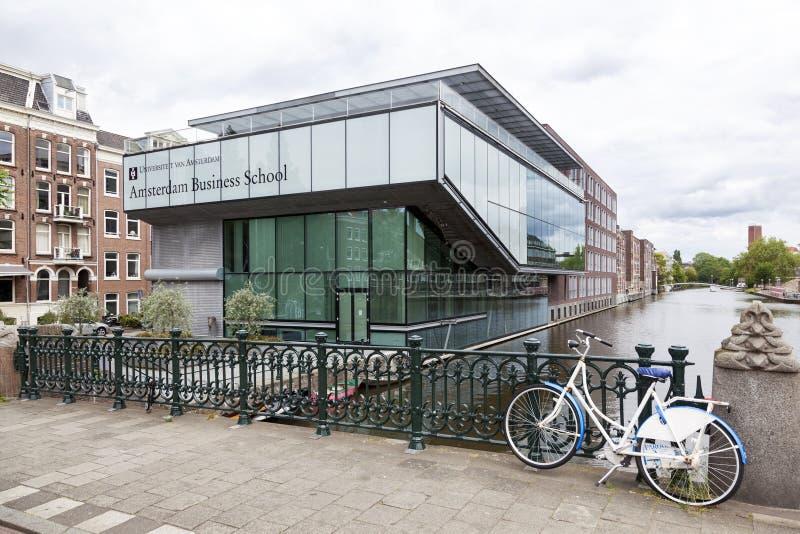 Οικονομική Σχολή του πανεπιστημίου του Άμστερνταμ στο roeterseiland στοκ εικόνα με δικαίωμα ελεύθερης χρήσης