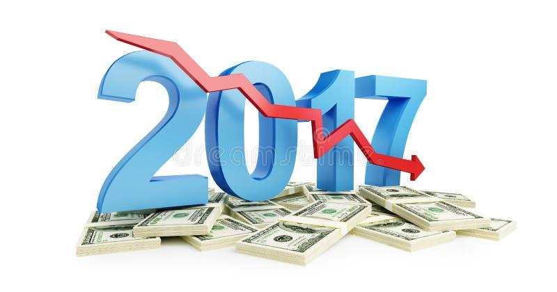 Οικονομική υποχώρηση το 2017 απεικόνιση αποθεμάτων