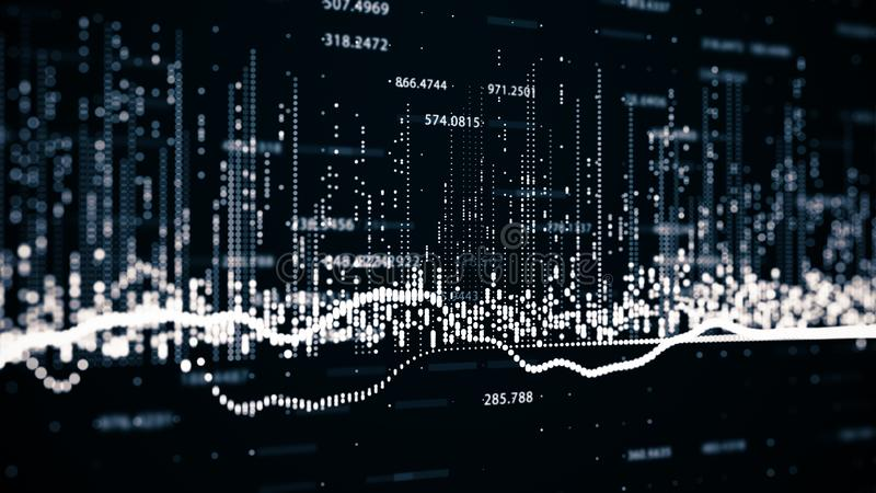 Οικονομικοί αριθμοί και διαγράμματα που παρουσιάζουν αυξανόμενα κέρδη στοκ εικόνα
