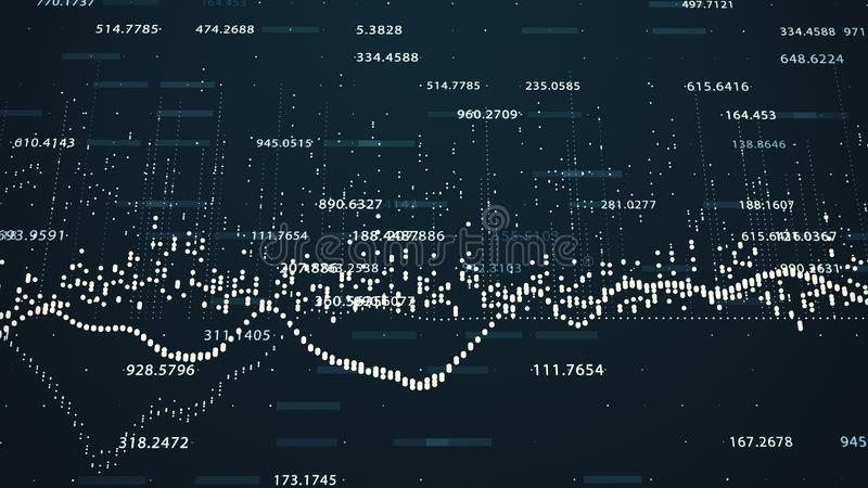 Οικονομικοί αριθμοί και διαγράμματα που παρουσιάζουν αυξανόμενα κέρδη απεικόνιση αποθεμάτων