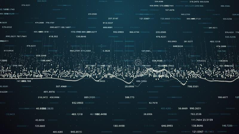 Οικονομικοί αριθμοί και διαγράμματα που παρουσιάζουν αυξανόμενα κέρδη διανυσματική απεικόνιση