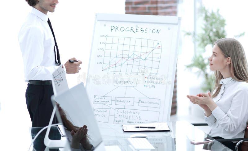 Οικονομικοί διευθυντές που συζητούν τα ζητήματα εργασίας στη συνεδρίαση στοκ εικόνα