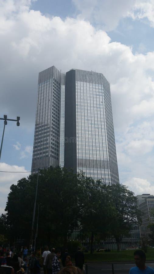 οικονομικοί ουρανοξύστες οριζόντων της Φρανκφούρτης περιοχής στοκ φωτογραφίες