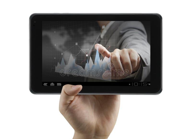Οικονομικός αναλυτής στην ψηφιακή ταμπλέτα στοκ φωτογραφία με δικαίωμα ελεύθερης χρήσης