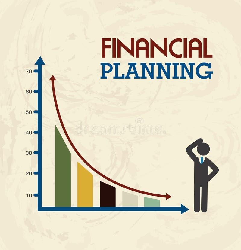 οικονομικός προγραμματισμός ποντικιών γραφικών παραστάσεων δολαρίων τραπεζογραμματίων διανυσματική απεικόνιση