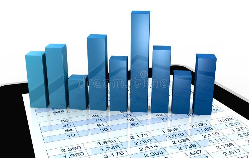 οικονομικός σύγχρονος &al απεικόνιση αποθεμάτων