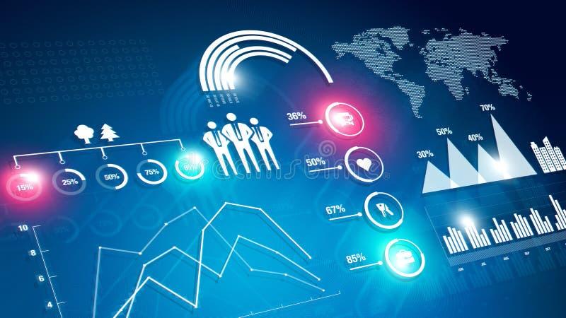 Οικονομικός infographic ελεύθερη απεικόνιση δικαιώματος