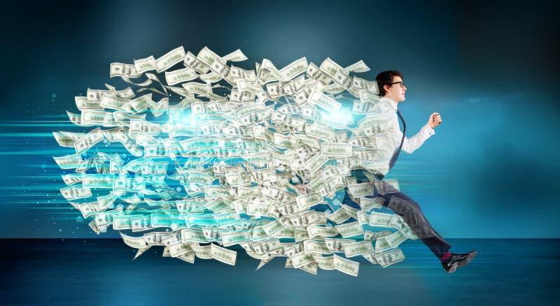 Οικονομικό ίχνος δολαρίων αύξησης διανυσματική απεικόνιση