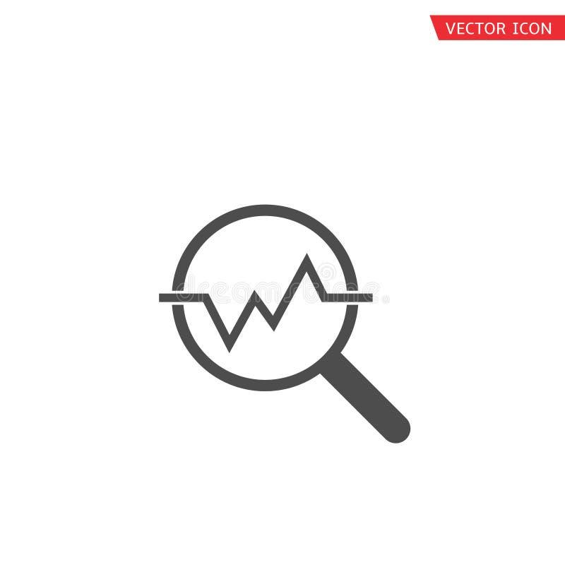 Οικονομικό εικονίδιο ανάλυσης απεικόνιση αποθεμάτων