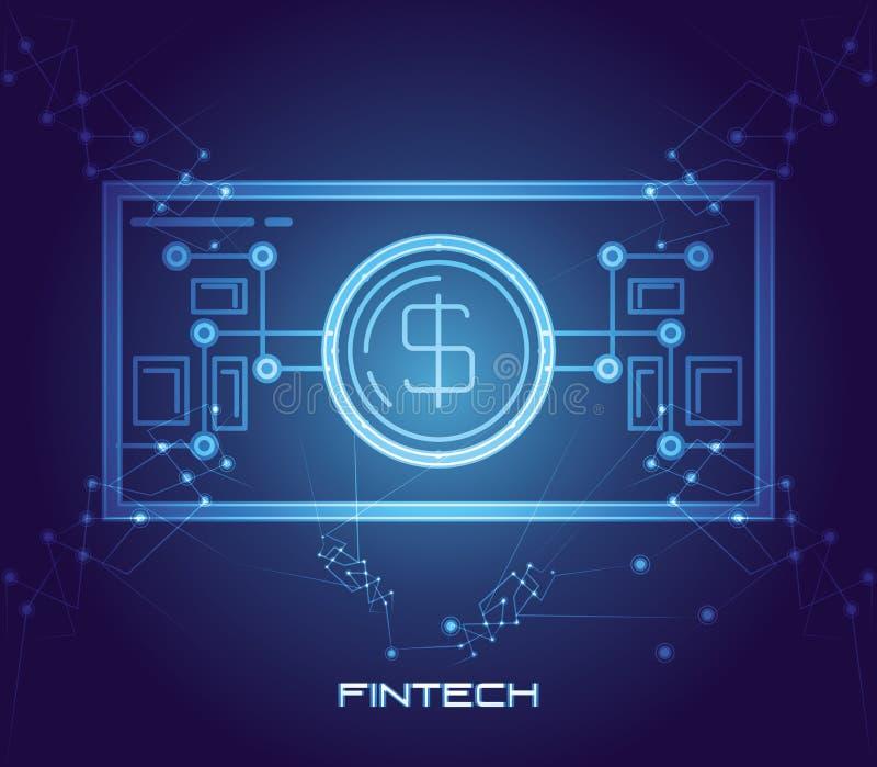 Οικονομικό εικονίδιο τεχνολογίας χρημάτων του Μπιλ απεικόνιση αποθεμάτων