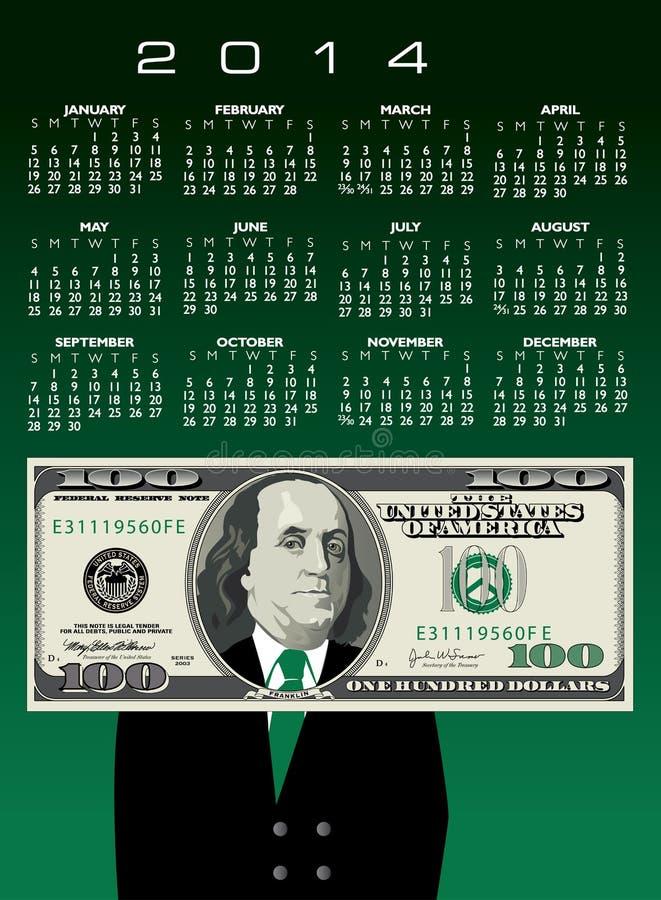 οικονομικό ημερολόγιο του 2014 ελεύθερη απεικόνιση δικαιώματος