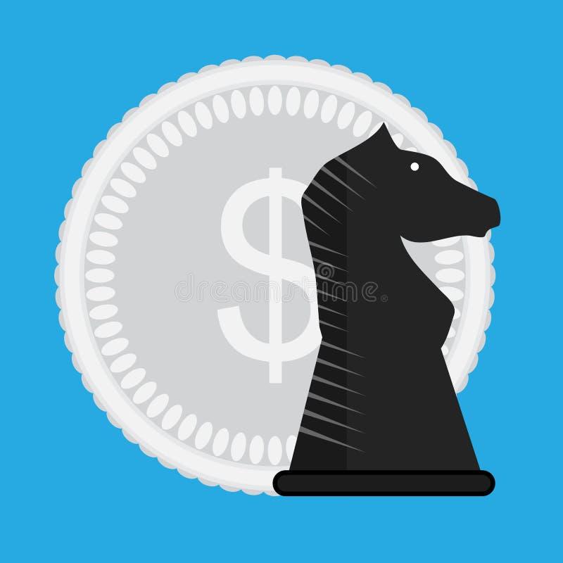Οικονομικό διάνυσμα στρατηγικής απεικόνιση αποθεμάτων