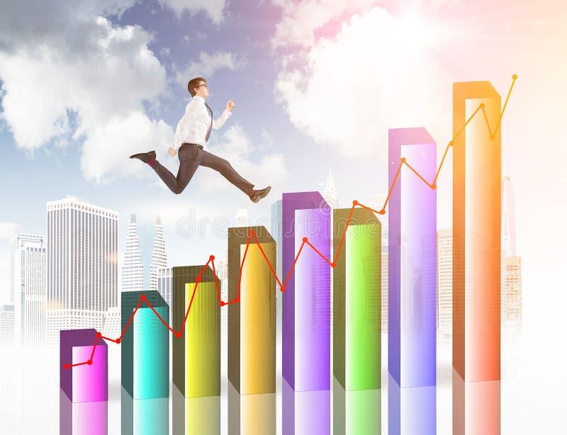 Οικονομικό τρέξιμο ατόμων αύξησης στοκ εικόνες