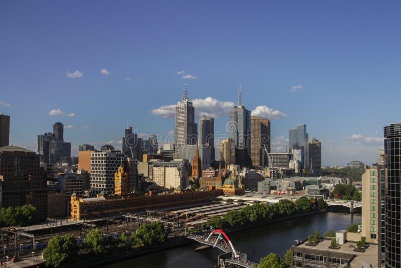 οικονομικό yarra όψης οριζόντων ποταμών της Μελβούρνης κεντρικών πόλεων της Αυστραλίας στοκ φωτογραφία με δικαίωμα ελεύθερης χρήσης