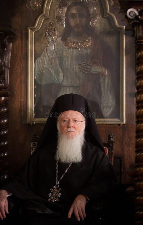 Οικουμενικός πατριάρχης Bartholomew στοκ εικόνες