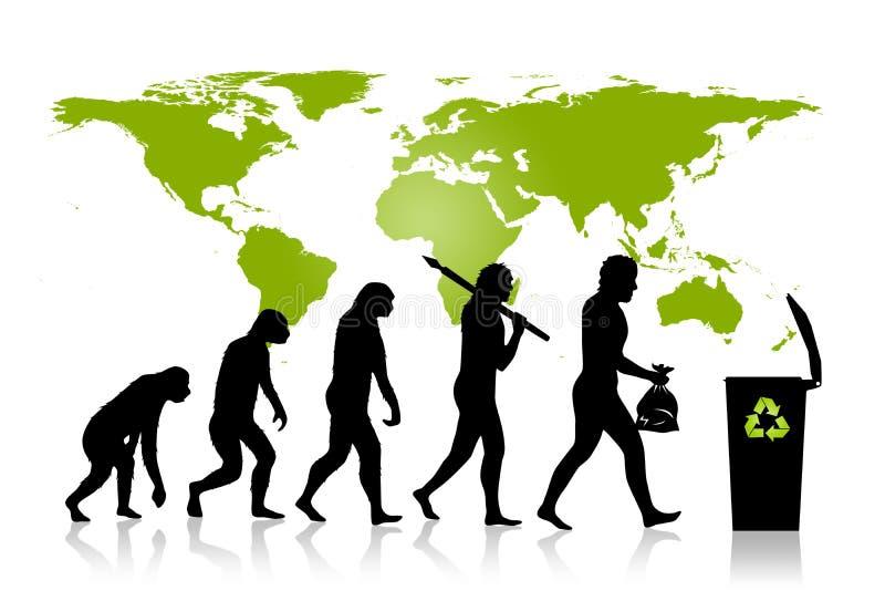 Οικολογία - ανακύκλωσης εξέλιξη ελεύθερη απεικόνιση δικαιώματος