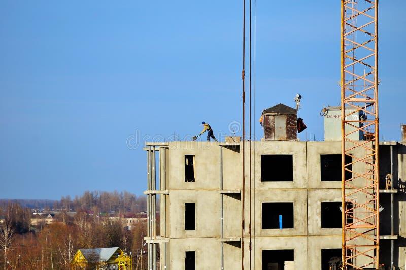 Οικοδομή στο εργοτάξιο, άποψη ματιών πουλιών στοκ φωτογραφία με δικαίωμα ελεύθερης χρήσης