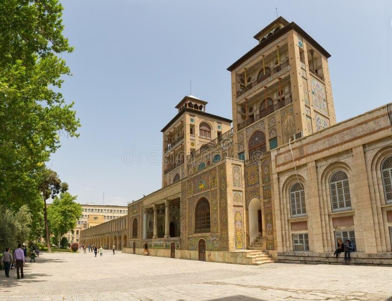 Οικοδόμημα παλατιών Golestan των πύργων ήλιων στοκ εικόνες