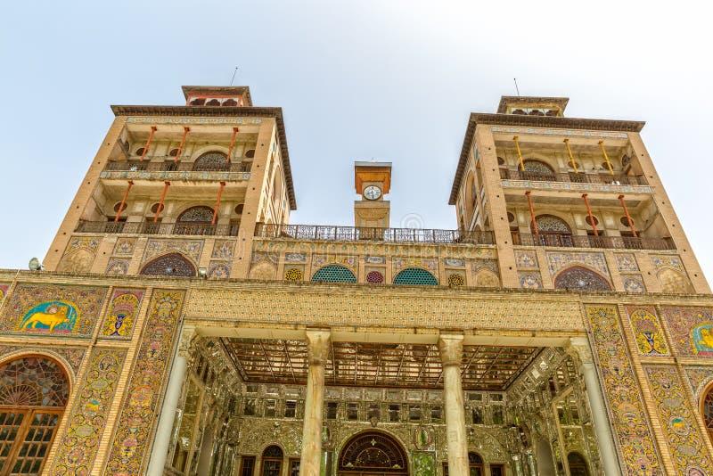 Οικοδόμημα πύργων παλατιών Golestan του ήλιου στοκ εικόνες