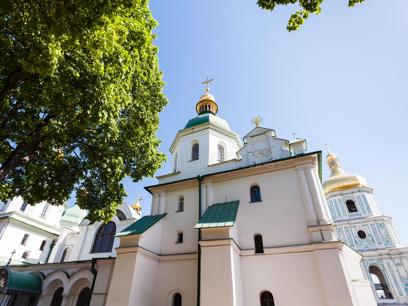 Οικοδόμημα του καθεδρικού ναού Αγίου Sophia στην πόλη του Κίεβου στοκ εικόνα με δικαίωμα ελεύθερης χρήσης