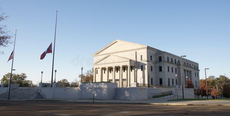 Οικοδόμηση κοντά στο κτήριο κρατικού Capitol του Μισισιπή στοκ εικόνες
