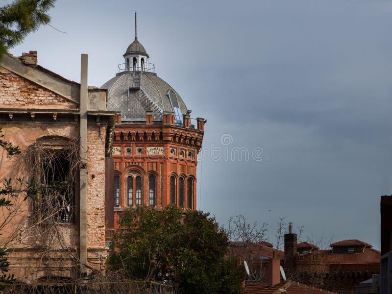 Οικοδόμηση της ελληνικής ακαδημίας, Ιστανμπούλ στοκ φωτογραφία με δικαίωμα ελεύθερης χρήσης