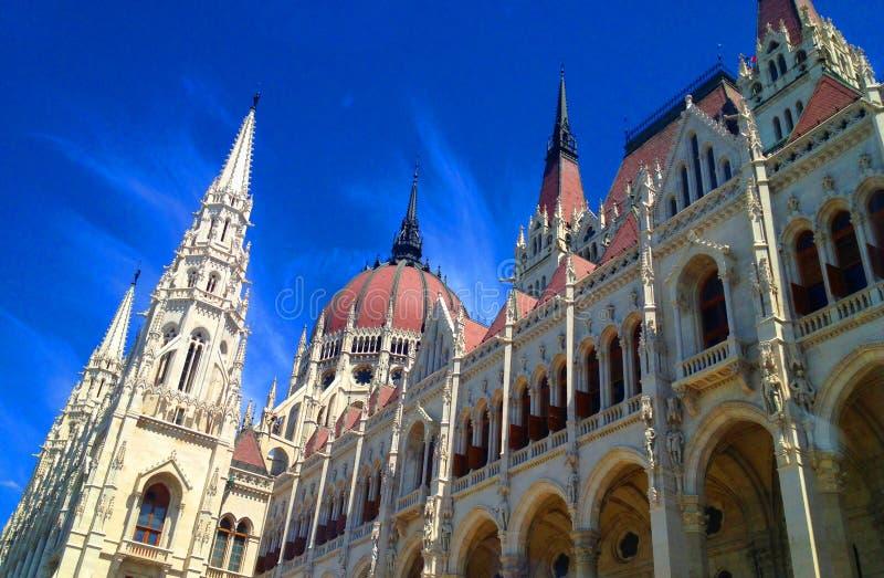 Οικοδόμηση του Κοινοβουλίου της Βουδαπέστης το /Hungary/ στοκ εικόνα