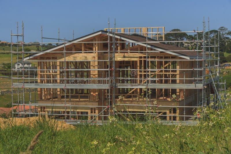 Οικοδόμηση του νέου εγχώριου κτηρίου, Ώκλαντ, Νέα Ζηλανδία, στοκ εικόνες