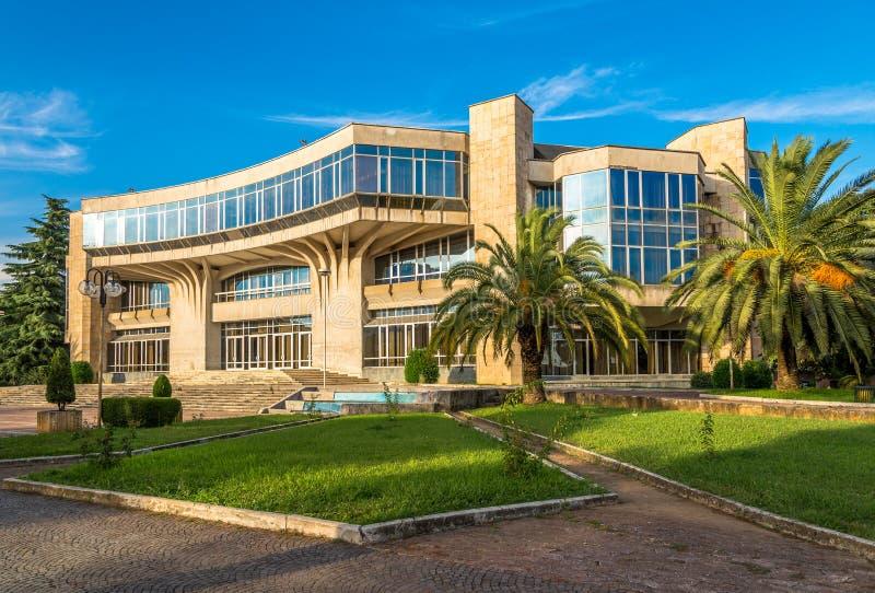 Οικοδόμηση του παλατιού συνεδρίων στα Τίρανα στοκ εικόνες