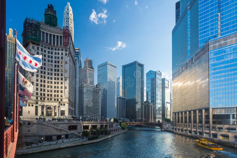 οικοδόμηση του Σικάγου Wrigley στοκ φωτογραφία με δικαίωμα ελεύθερης χρήσης