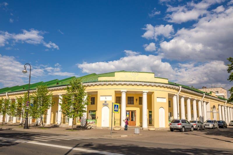 Οικοδόμηση του dvor Gostiny σε Kronshtadt, Ρωσία στοκ φωτογραφία με δικαίωμα ελεύθερης χρήσης