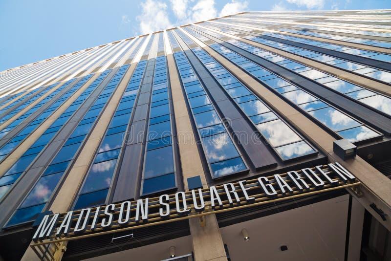 Οικοδόμηση του Madison Square Garden στοκ εικόνες