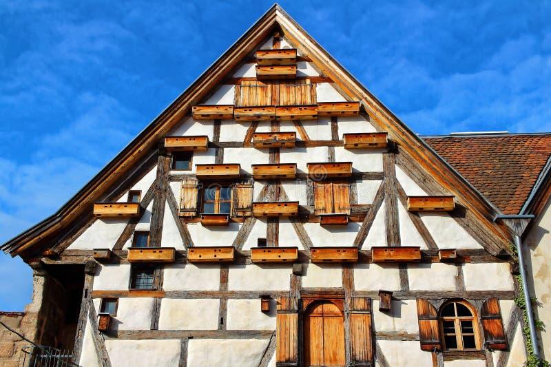 Οικοδόμηση Fachwerkhaus μοναδική στοκ εικόνες