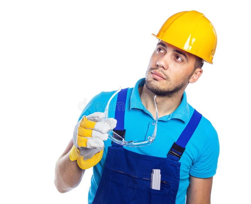 Οικοδόμος - εργάτης οικοδομών στοκ φωτογραφίες