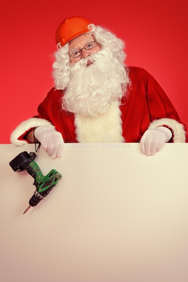 Οικοδόμος Santa στοκ εικόνες
