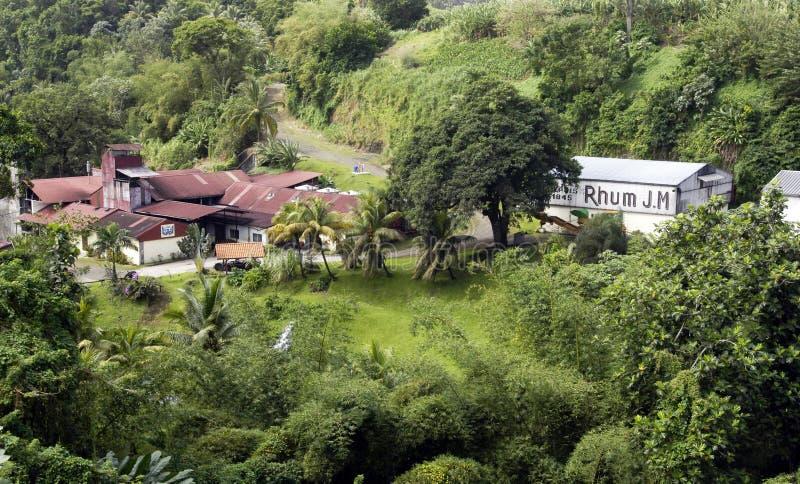 Οινοπνευματοποιία Μ σε Macouba στη Μαρτινίκα στοκ εικόνα