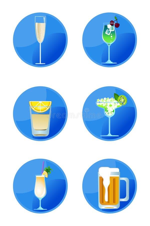 οινοπνευματώδη εικονίδ&io διανυσματική απεικόνιση