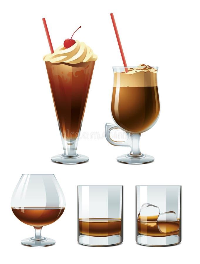 οινοπνευματώδη καφετιά π& διανυσματική απεικόνιση
