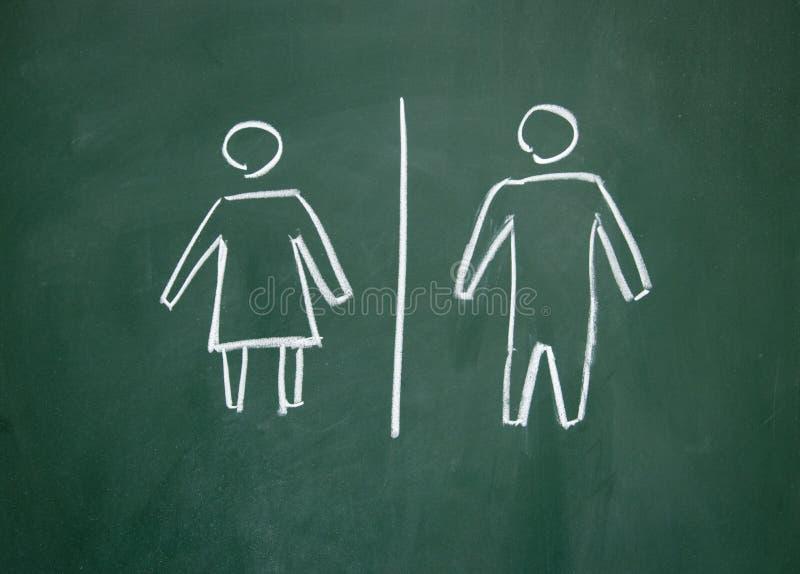 οι άνδρες υπογράφουν τις γυναίκες στοκ φωτογραφία με δικαίωμα ελεύθερης χρήσης