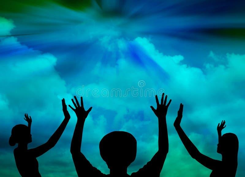 Εκθειασμός του Θεού ελεύθερη απεικόνιση δικαιώματος