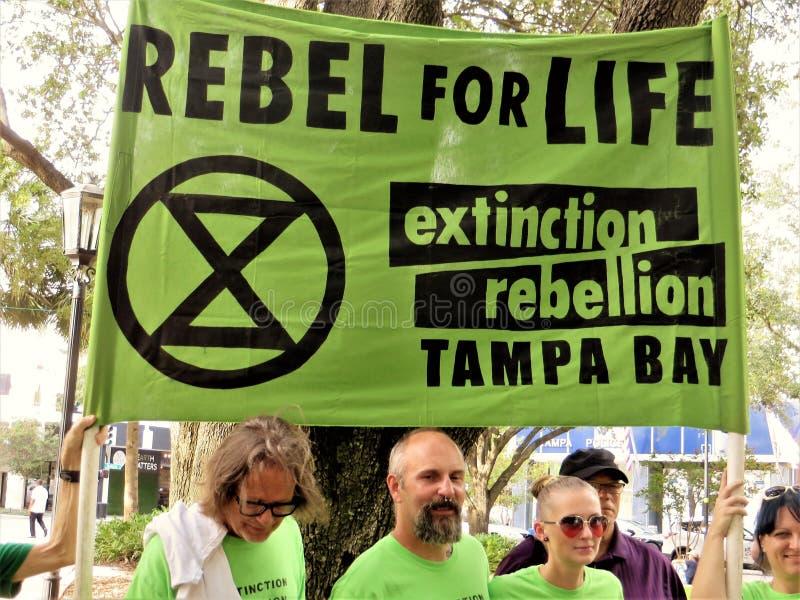 Οι άνθρωποι εναντίον TECO διαμαρτύρονται, Τάμπα, Φλώριδα στοκ φωτογραφίες