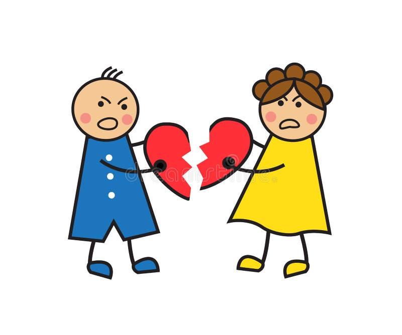 Οι άνθρωποι καταστρέφουν την αγάπη διανυσματική απεικόνιση
