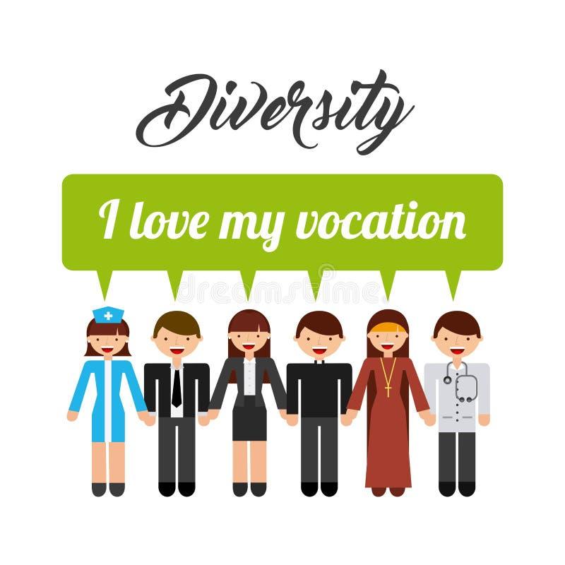 Οι άνθρωποι ποικιλομορφίας σχεδιάζουν απεικόνιση αποθεμάτων
