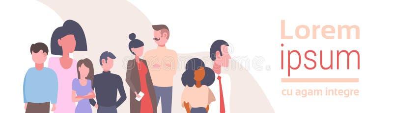 Οι άνθρωποι φυλών μιγμάτων ομαδοποιούν τα επιτυχή κινούμενα σχέδια ομαδικής εργασίας επιχειρηματιών και επιχειρηματιών έννοιας 'b ελεύθερη απεικόνιση δικαιώματος