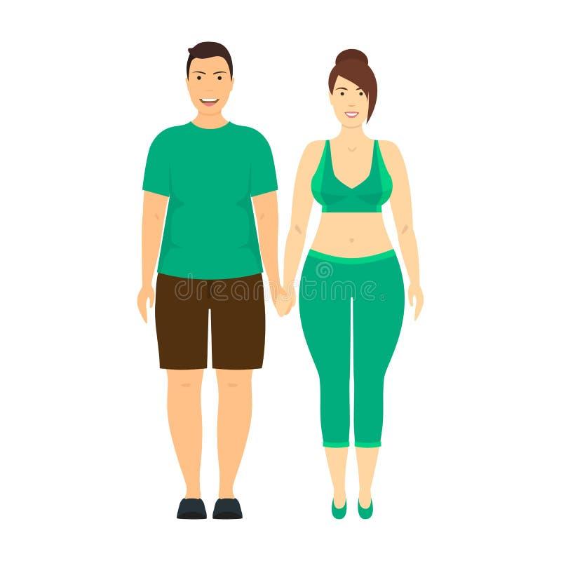 Οι άνθρωποι χαρακτηρών κινουμένων σχεδίων συν το μέγεθος συνδέουν r διανυσματική απεικόνιση