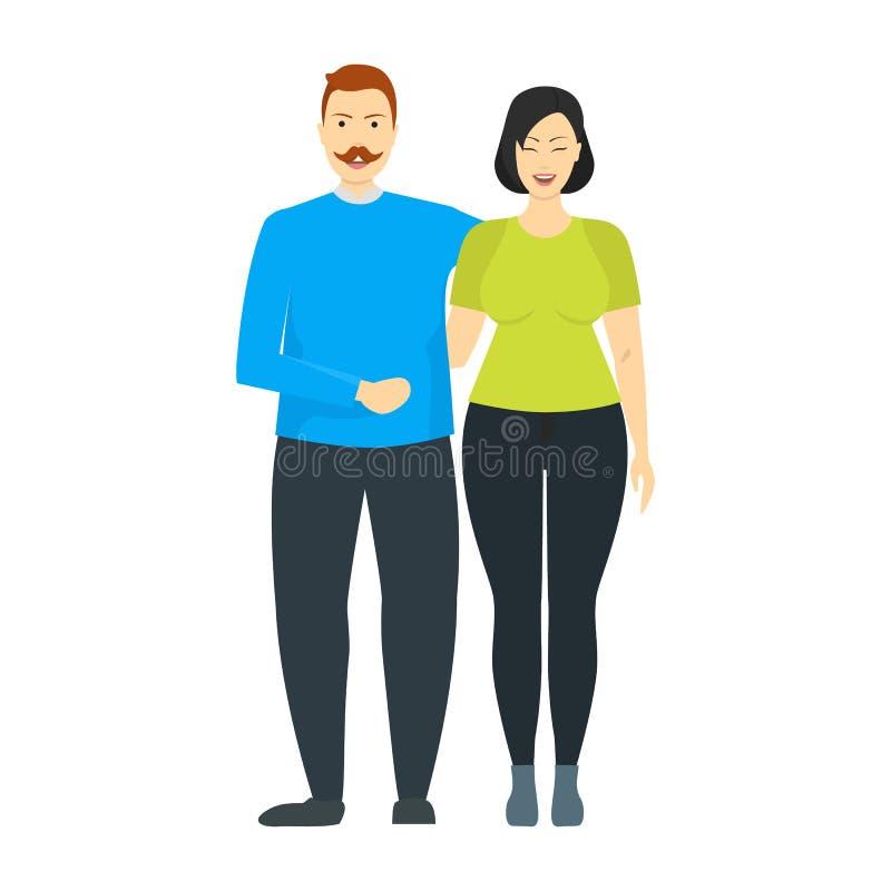 Οι άνθρωποι χαρακτηρών κινουμένων σχεδίων συν το μέγεθος συνδέουν r ελεύθερη απεικόνιση δικαιώματος